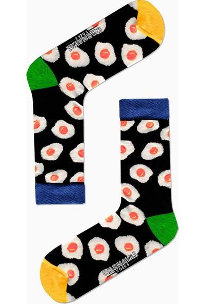 Carnaval Socks 7'li Fast Food Yemek Yiyecek Desenli Renkli Çorap Set