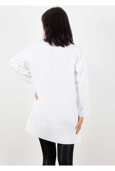 Trisiss Kadın Ceket Beyaz