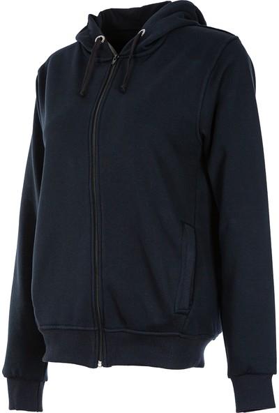 Radyum Kapüşonlu Fermuarlı Kadın Sweatshirt