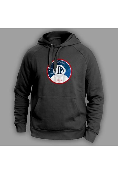 Vectorwear Space Journey Siyah Sweatshirt