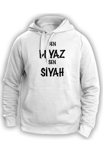 Vectorwear Ben Beyaz Sen Siyah Sweatshirt