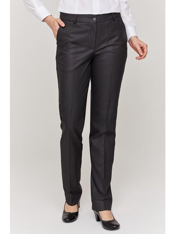 Çekin Üniforma Kadın Füme Kumaş Pantolon