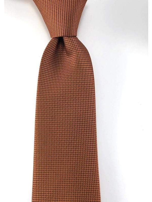 Pierroni Düz Taba Oxford Desen Mendilli Kravat