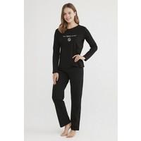 Penti Siyah Base Detox Pijama Takımı