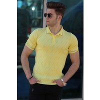 Madmext Madmext Erkek Sarı Polo T-Shirt 4538
