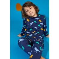 Defacto Erkek Çocuk Dinozor Baskılı Pijama Takımı S0445A620AU