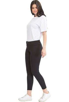 Teen Blue Siyah Kadın Gabardin Pantolon