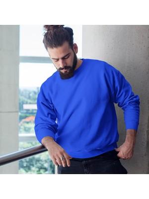 Fandomya Minimalist Balance Mavi Sweatshirt