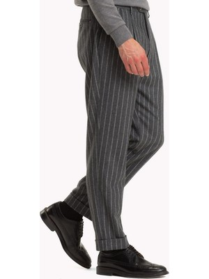 Tommy Hilfiger Erkek Pileli Yün Pantolon TT0TT03727018 U004883 - Fume