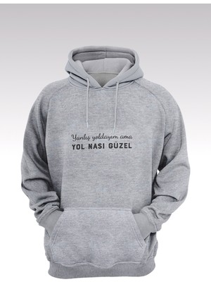 Tonny Mood Yol Nası Güzel 214 Gri Kapşonlu Sweatshirt - Hoodie