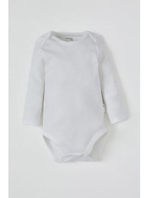 Defacto Erkek Bebek Uzun Kol Çıtçıtlı Pamuklu Body T5438A221SP