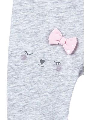 Bibaby Cute Cat Desenli Kız Bebek Pamuk Pantolon