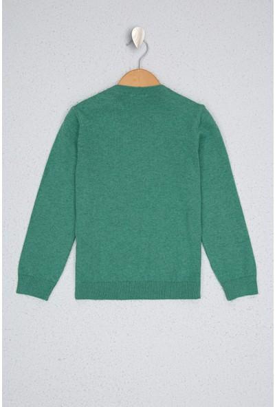 U.S. Polo Assn. Kız Çocuk Yeşil Triko Kazak 50224699-Vr090