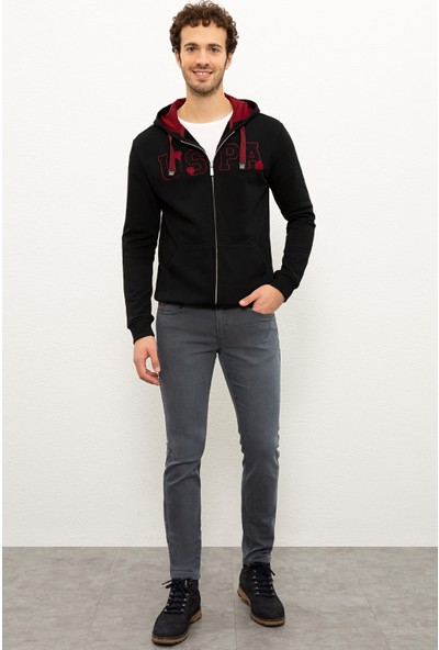U.S. Polo Assn. Erkek Siyah Sweatshirt 50225494-Vr046