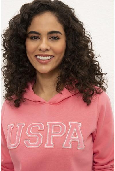 U.S. Polo Assn. Kadın Pembe Sweat Shirt Basic 50232090-Vr041