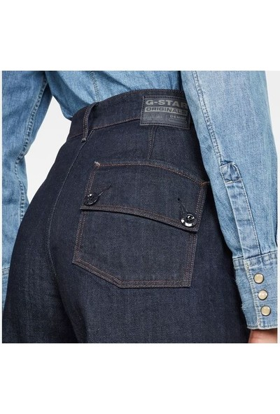 G-Star Raw D16096.B988.1241 Eyevi High Wide Leg Ankle Kadın Kot Pantolon