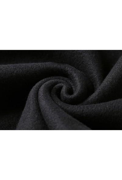 Tshirthane Venom Alevli Baskılı Siyah Erkek Örme Sweatshirt Uzun kol
