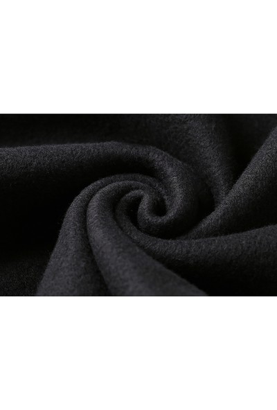Tshirthane God Of War Son Baskılı Siyah Erkek Örme Sweatshirt Uzun kol