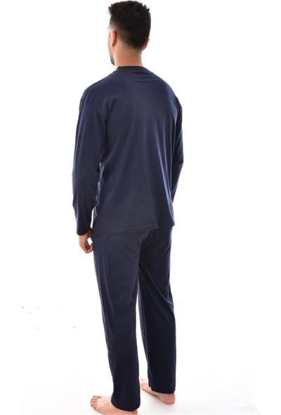 Rimolli Erkek 1065 Uzun Kol Süprem Pijama Takımı Lacivert