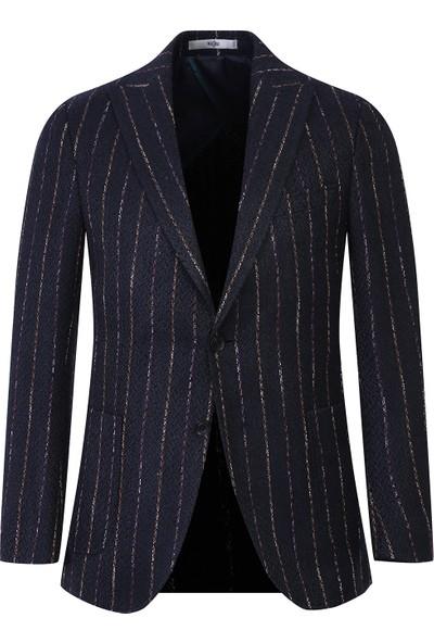 Kiğılı Klasik Çizgili Desenli Ceket