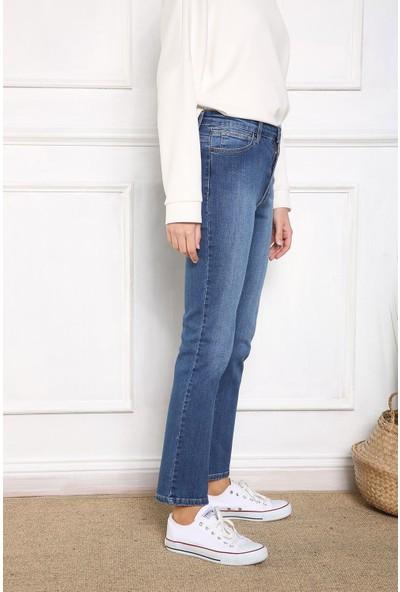 Allday Yüksek Bel Boru Paça Pantolon
