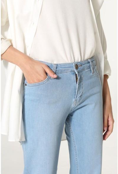 Allday Kadın Pamuklu Denim Pantolon