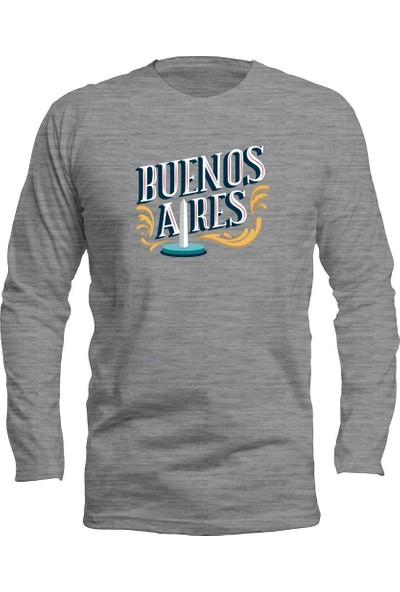 Fandomya Legend City Buenosaires Gri Long Sleeve