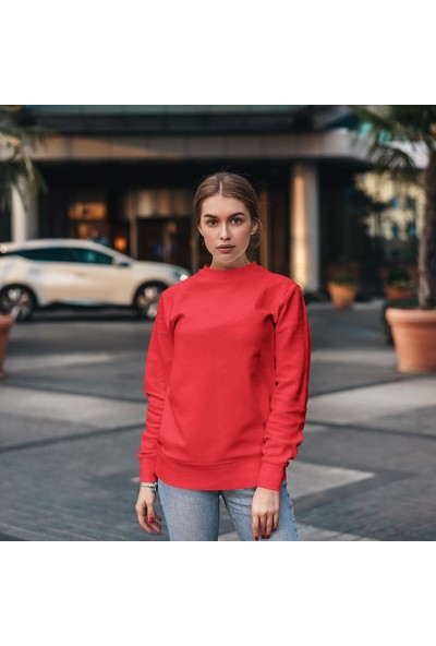 Fandomya Legend City Istanbul Kırmızı Sweatshirt
