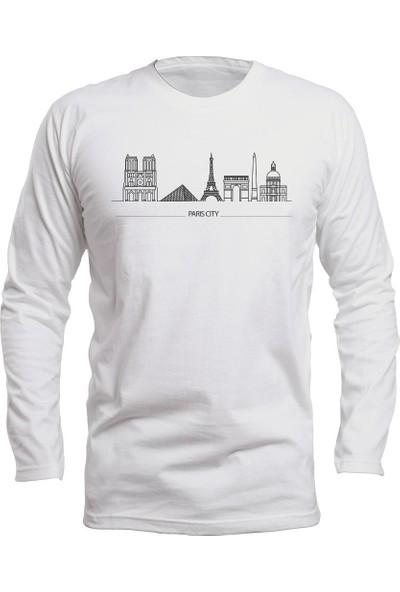 Fandomya Legend City Paris Beyaz Long Sleeve