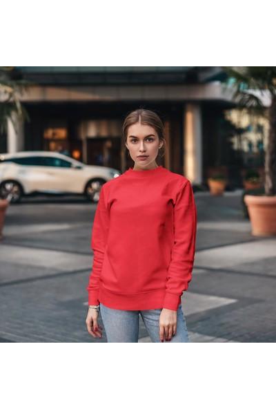 Fandomya Legend City Paris Kırmızı Sweatshirt