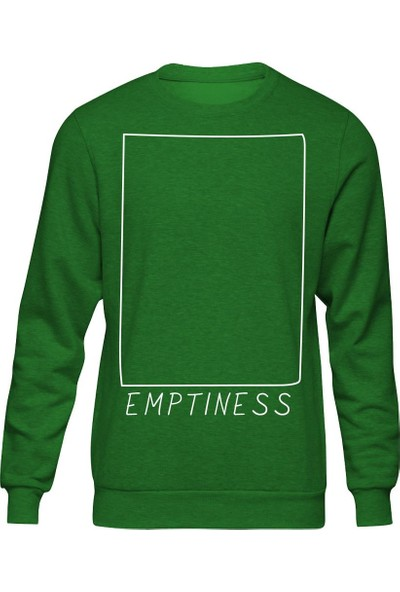 Fandomya Minimalist Emptiness Yeşil Sweatshirt