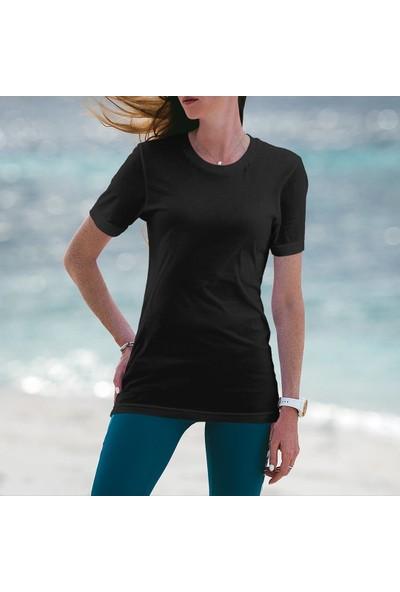 Fandomya Minimalist Grateful Siyah Tişört