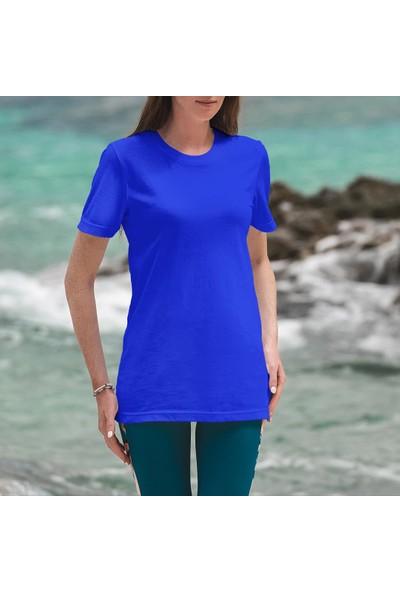 Fandomya Minimalist Angel Mavi Tişört