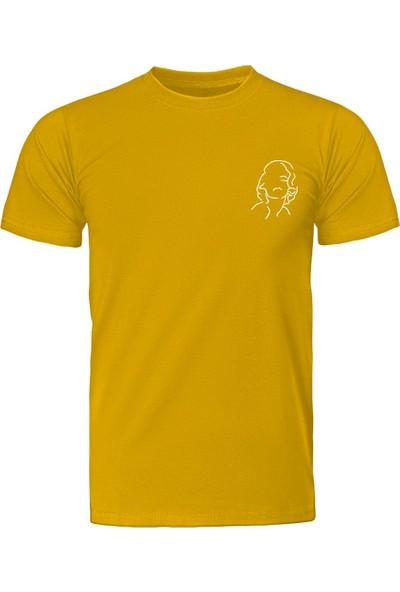 Fandomya Minimalist Marilyn Sarı Tişört