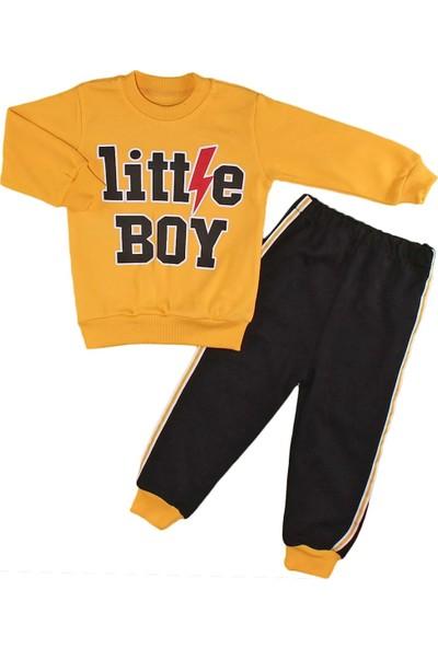 Papido Little Boy Baskılı 2'li Erkek Bebek Takım-Sarı