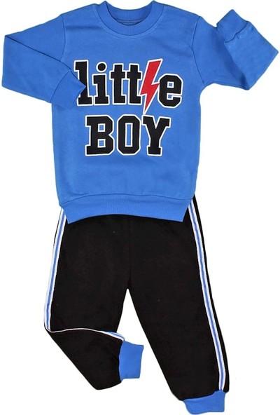 Papido Little Boy Baskılı 2'li Erkek Bebek Takım-Mavi