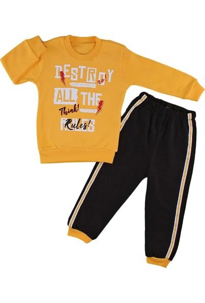 Papido Destroy Baskılı 2'li Erkek Bebek Takım-Sarı