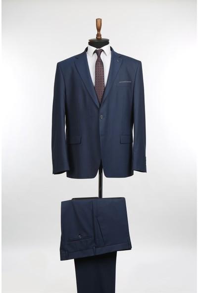 Jakamen Lacivert Mono Yaka Büyük Beden Erkek Takım Elbise