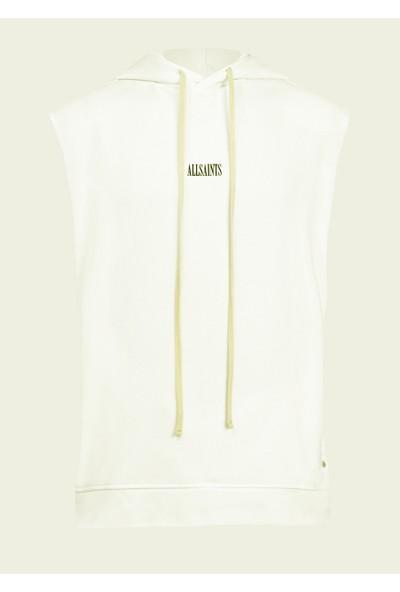 All Saints Erkek Kolsuz Sweatshirt MF0865 U004565 - Beyaz