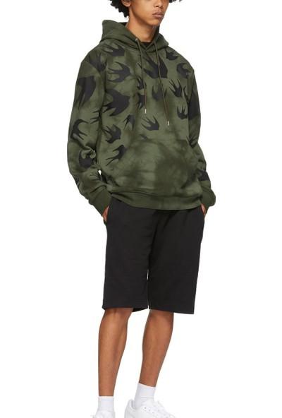 Alexander Mcqueen Erkek Kapüşonlu Sweatshirt 291571RGT72 U004860 - Hakı