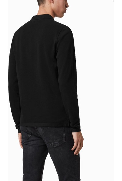All Saints Erkek Polo Yaka Sweatshirt MD170H U004915 - Bordo