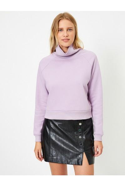 Koton Bogazli Uzun Kollu Basic Sweatshirt