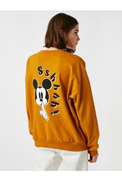 Koton Pamuklu Bisiklet Yaka Disney Lisansli Sweatshirt