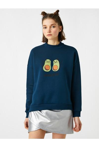 Koton Pamuklu Baskılı Sweatshirt
