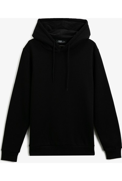 Koton Pamuklu Kapüşonlu Uzun Kollu Basic Sweatshirt