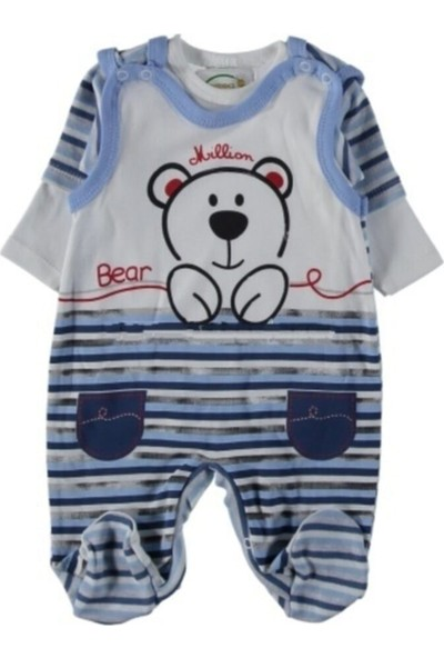 Million Rapapa Erkek Bebek Mavi Bahçıvan Ikili Tulum 2211-