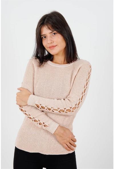 Fashion Friends Kadın Kazak Pudra