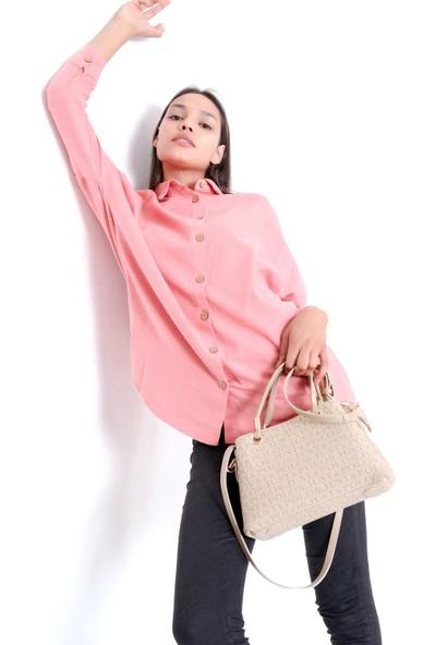 Just Polo Kadın Kum Rengi El ve Omuz Çantası