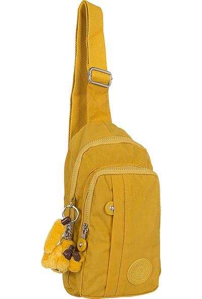 Kenyon 501 Klinkır Kumaş Kadın Göğüs ve Çapraz Çantası Sarı