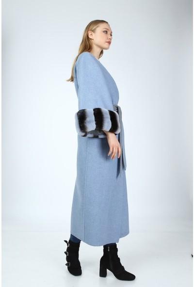 Bilgin's Lumıa Rex Tavşan Kürklü Kadın Alpaka Palto
